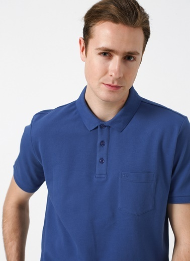 Cotton Bar Tişört Mavi